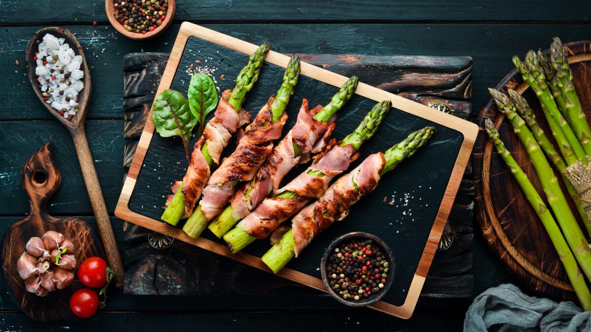 Baconindpakket asparges, et godt Keto tilbehør