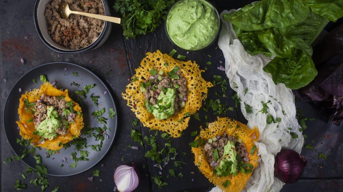 Oste tacos med taco fyld