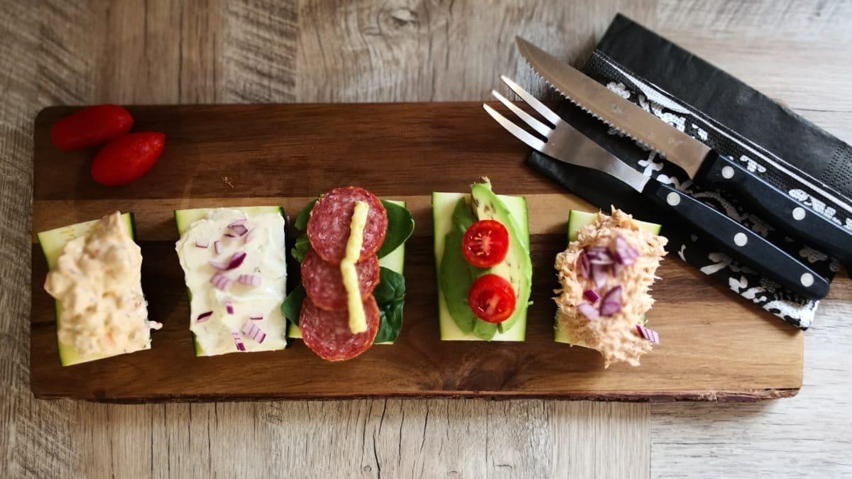 Squash madder med tun og mayo, salami og remoulade