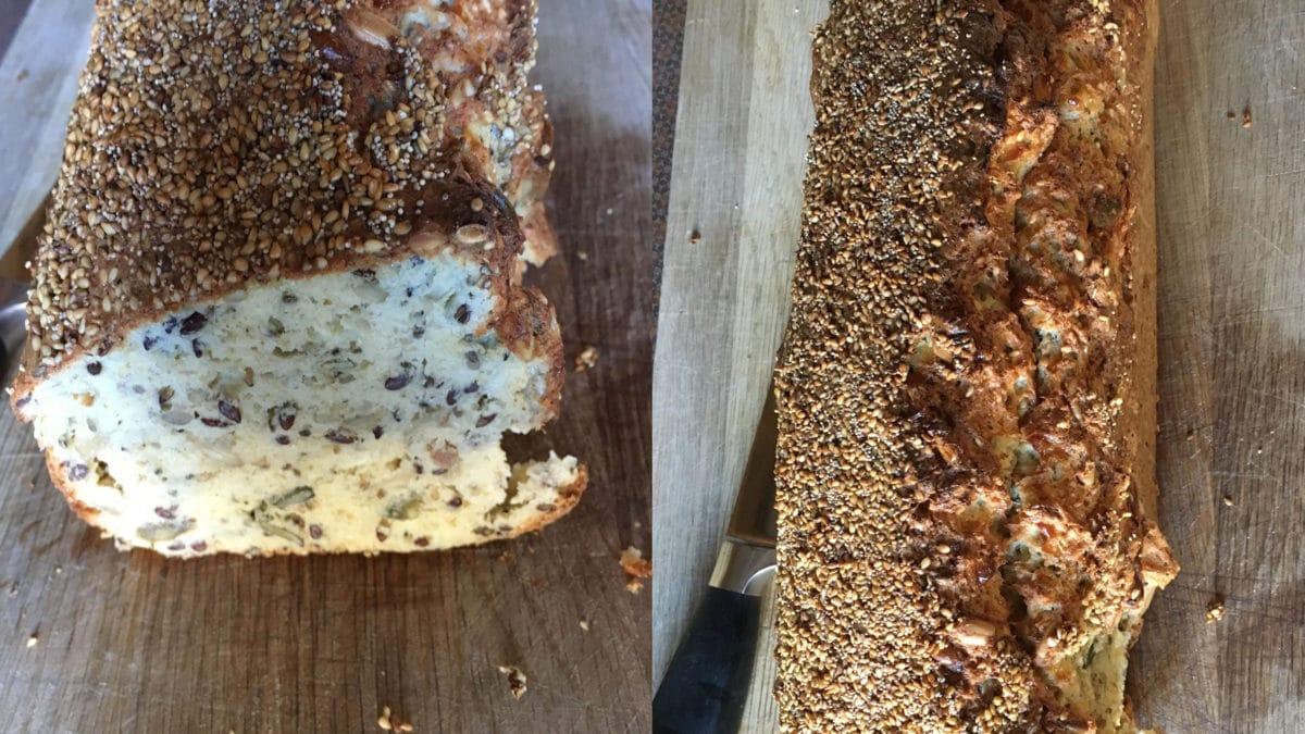 Femkornsbrød, verdens bedste keto brød