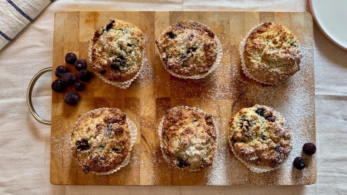 Utrolig lækre keto blåbær muffins