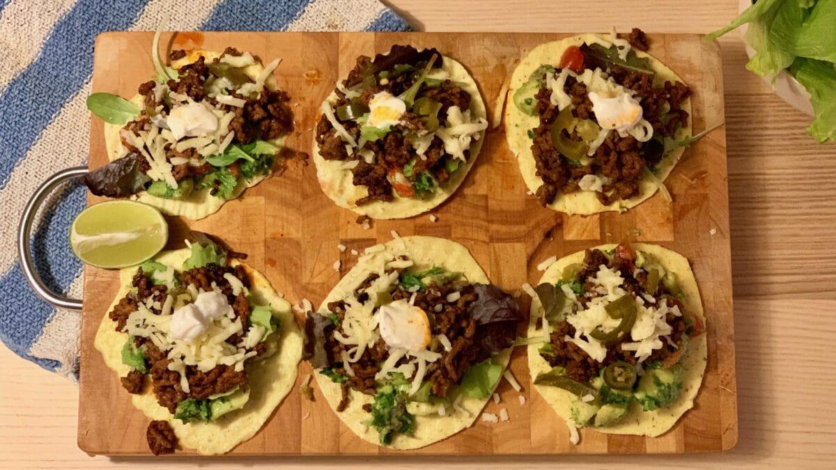 Mini tortillas med hele pakken
