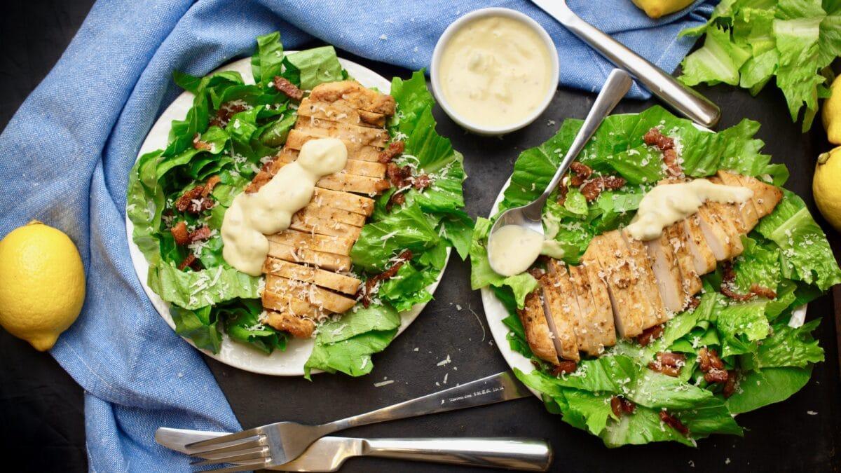 Simpel Keto cæsar salat