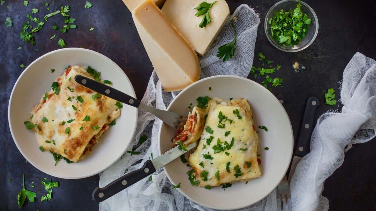 Keto lasagne med hjemmelavede lasagneplader