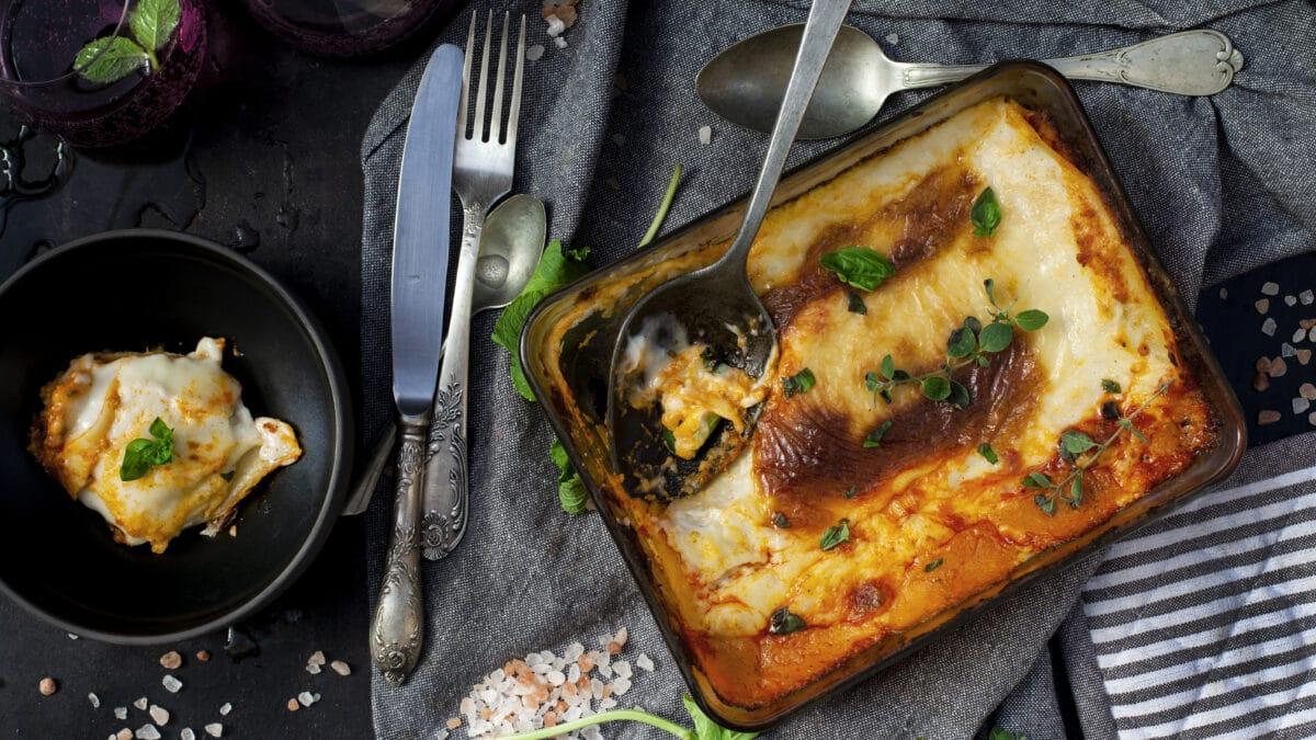 Keto lasagne ricotta med squash