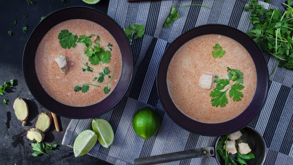 Tom Kha Gai, en lækker thailandsk suppe