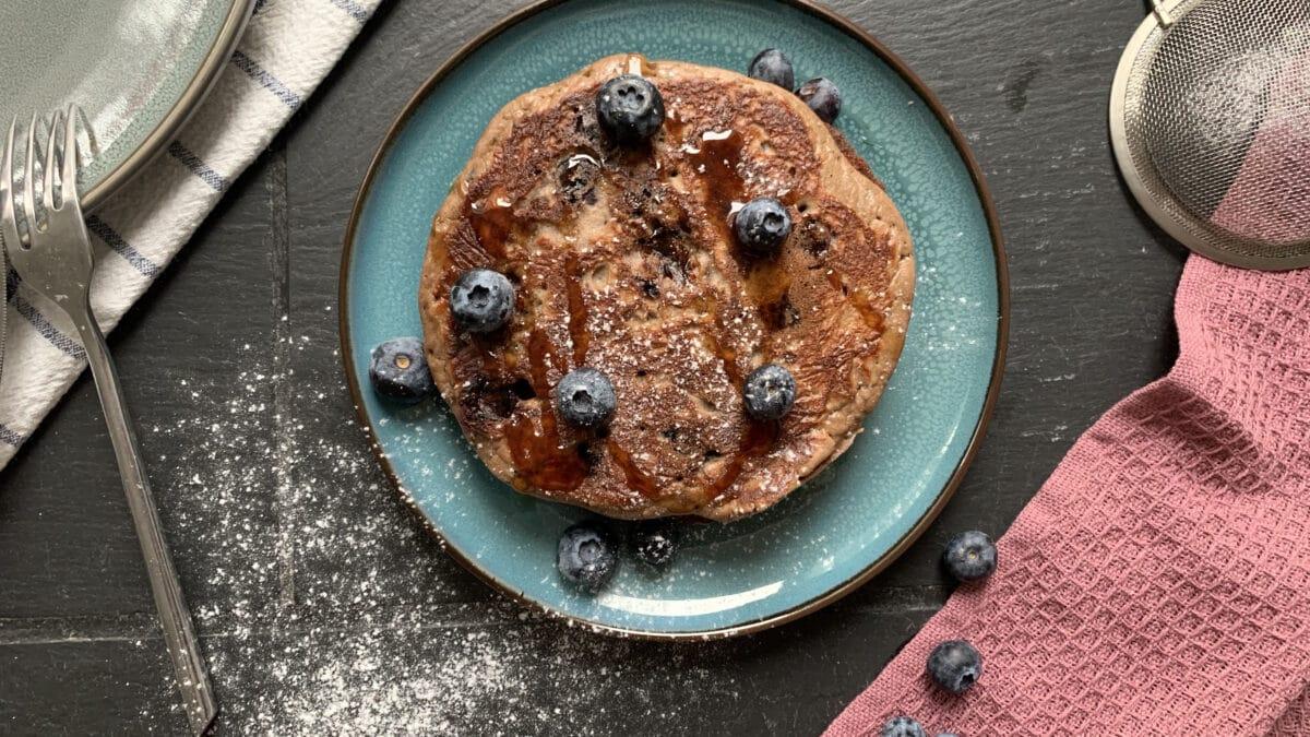 Blåbær pandekager luftige og bløde (4g kulhydrater kun)