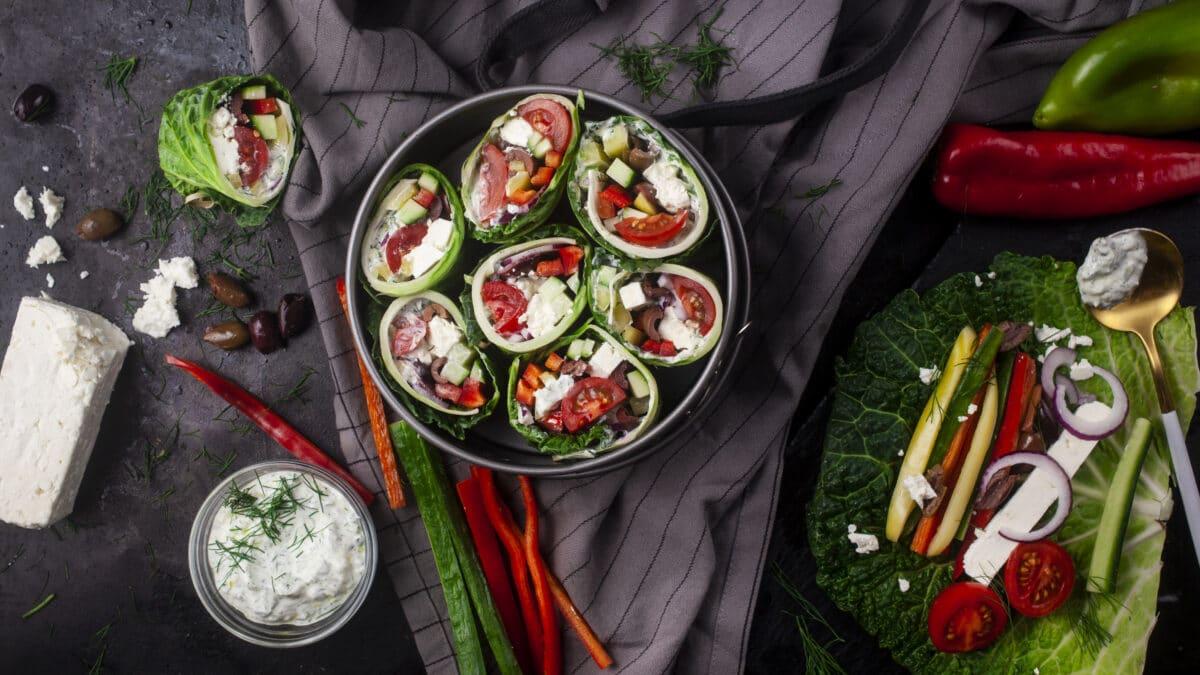 Græske salatwraps (vegetar keto)