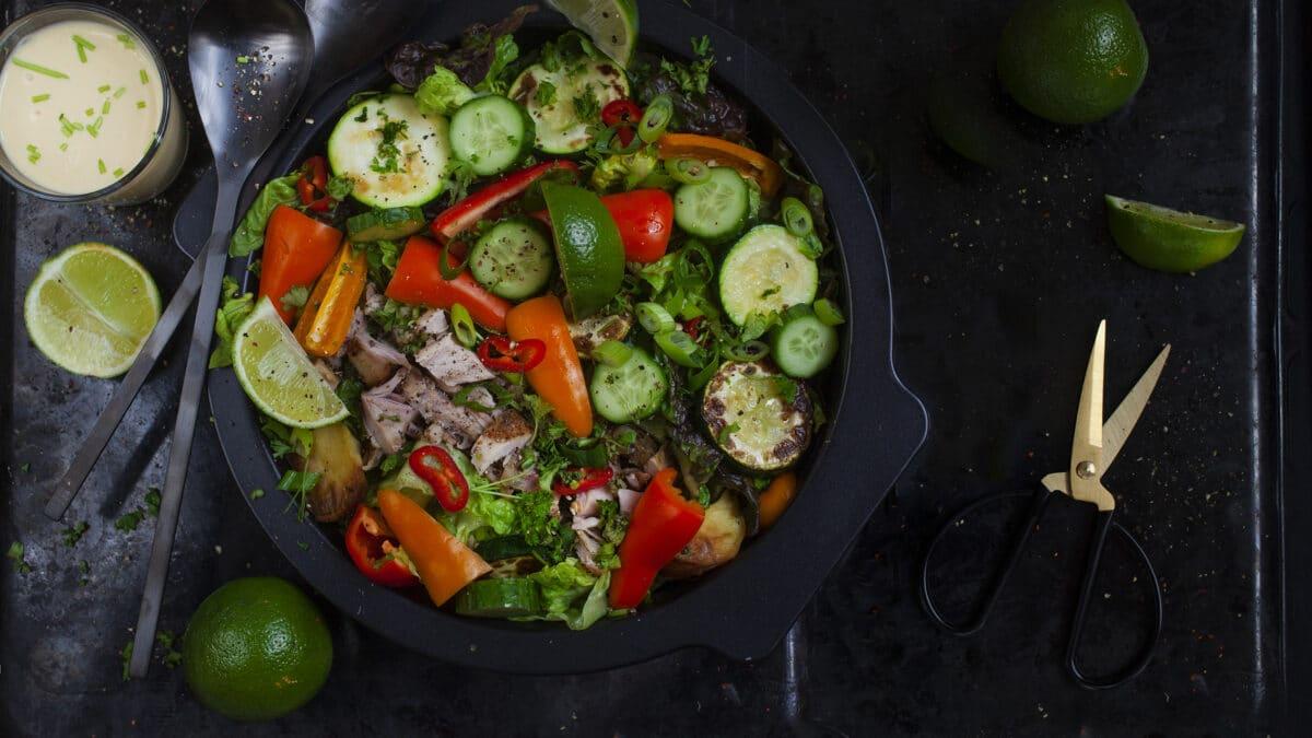 Keto Sante Fe salat med kylling