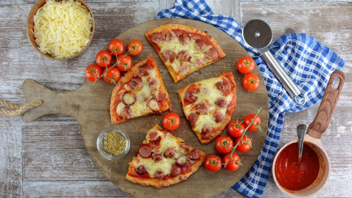 Ekstra god fat head pizza