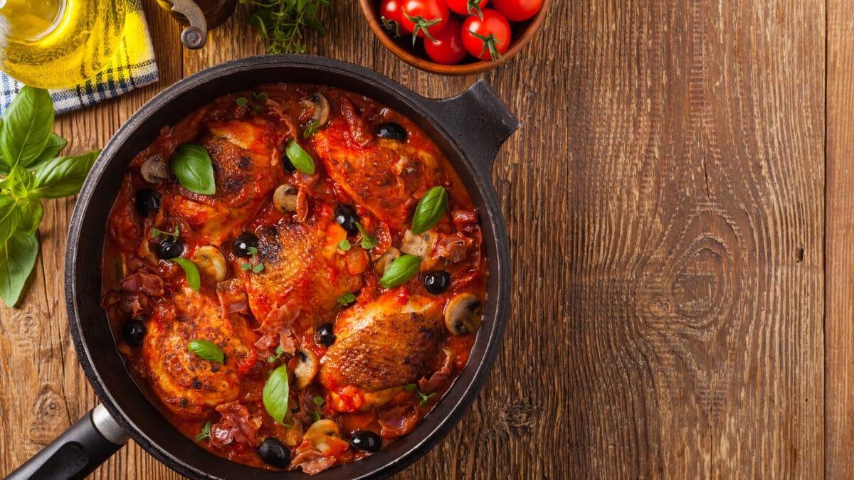 Kylling i tomat og mozzarella