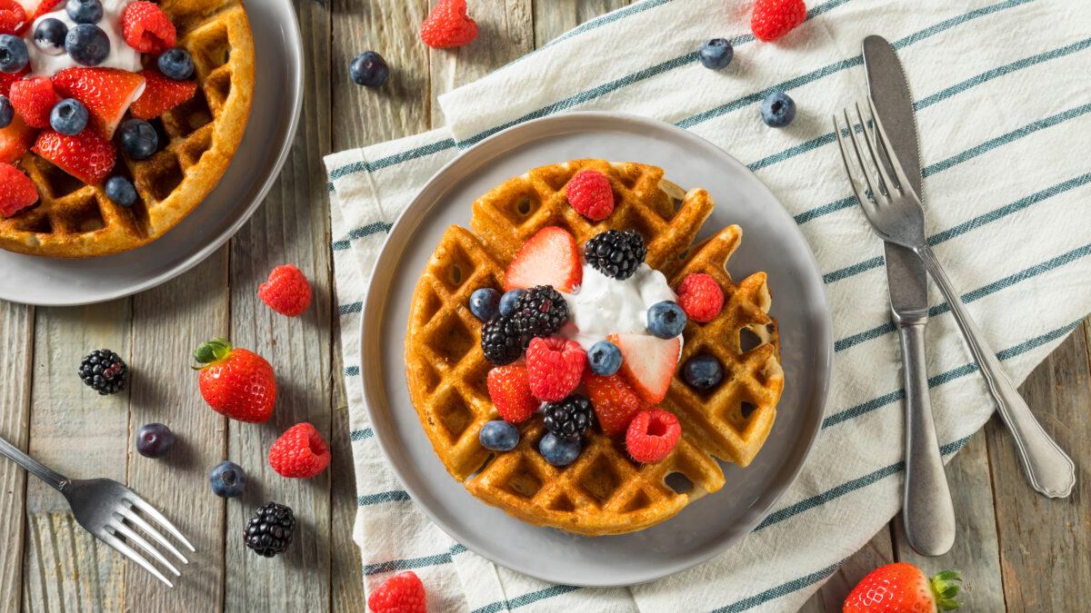 Dessert chaffles til morgenmad