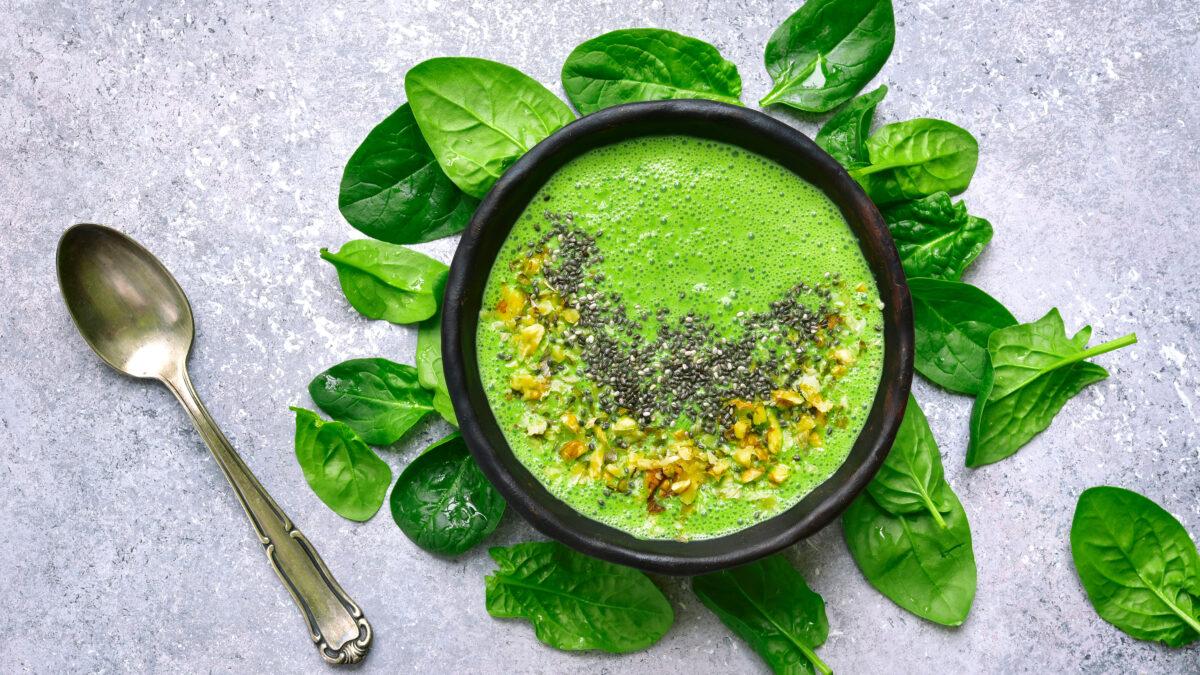 Grøn Keto smoothie med spinat