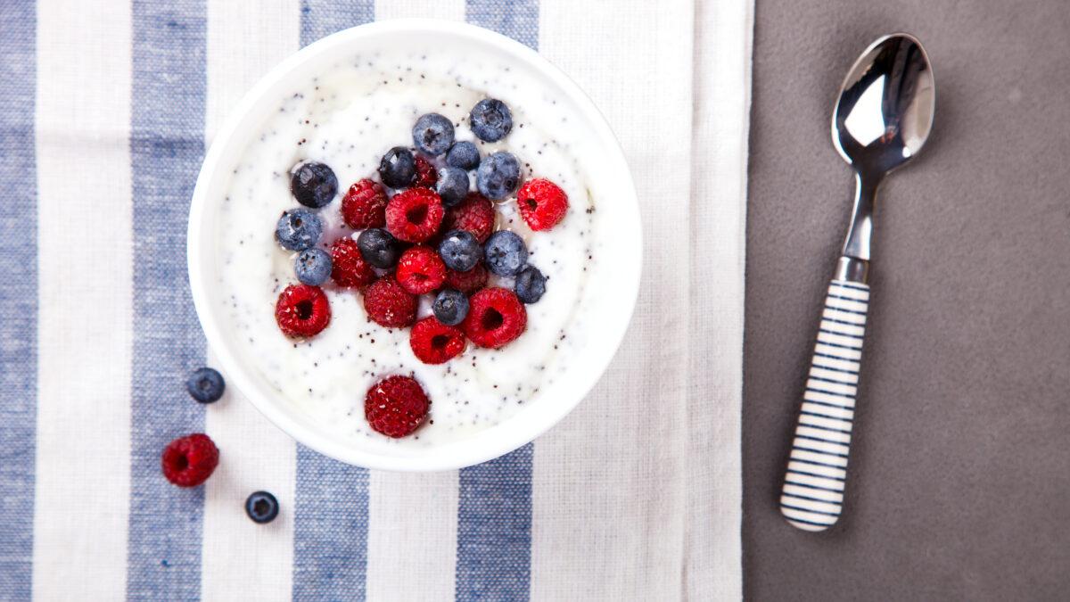 Chiagrød lavet på yoghurt