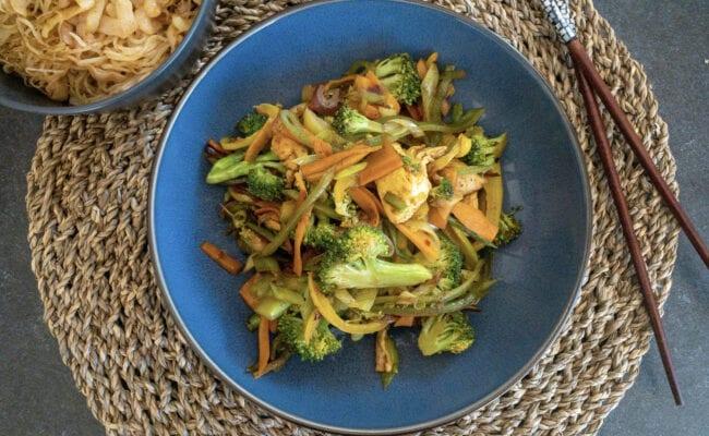 ketoilv Hurtig grøn wok med kylling overview