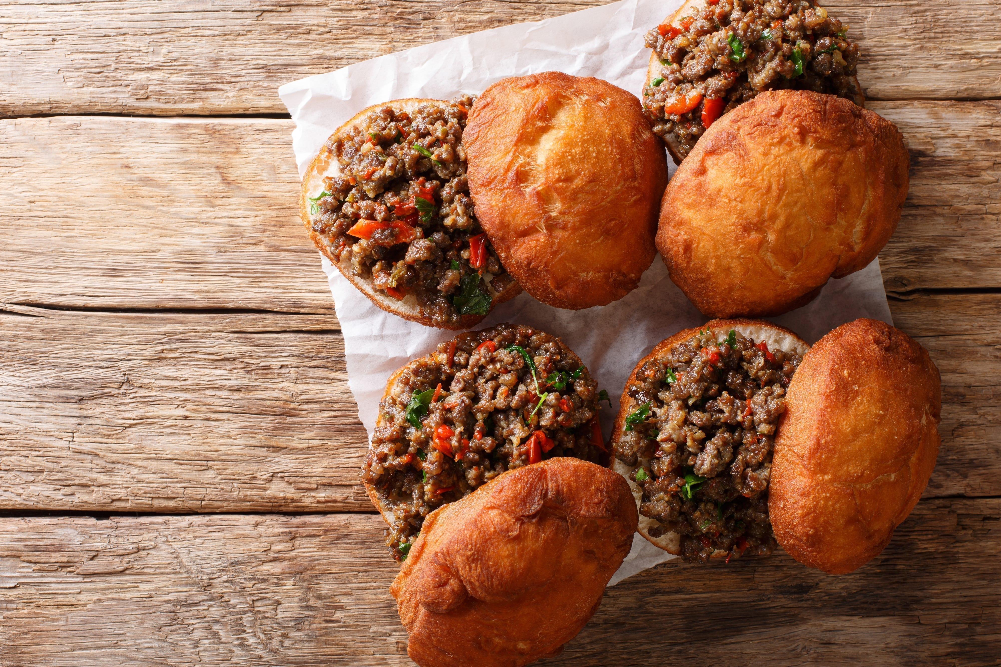 Sloppy joe – Burger med hakket oksekød