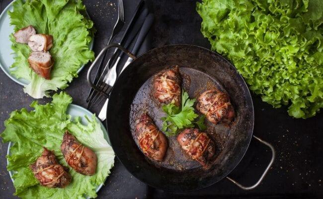 ketoliv-Baconindpakket kyllingefilet med bønnesalat-overview