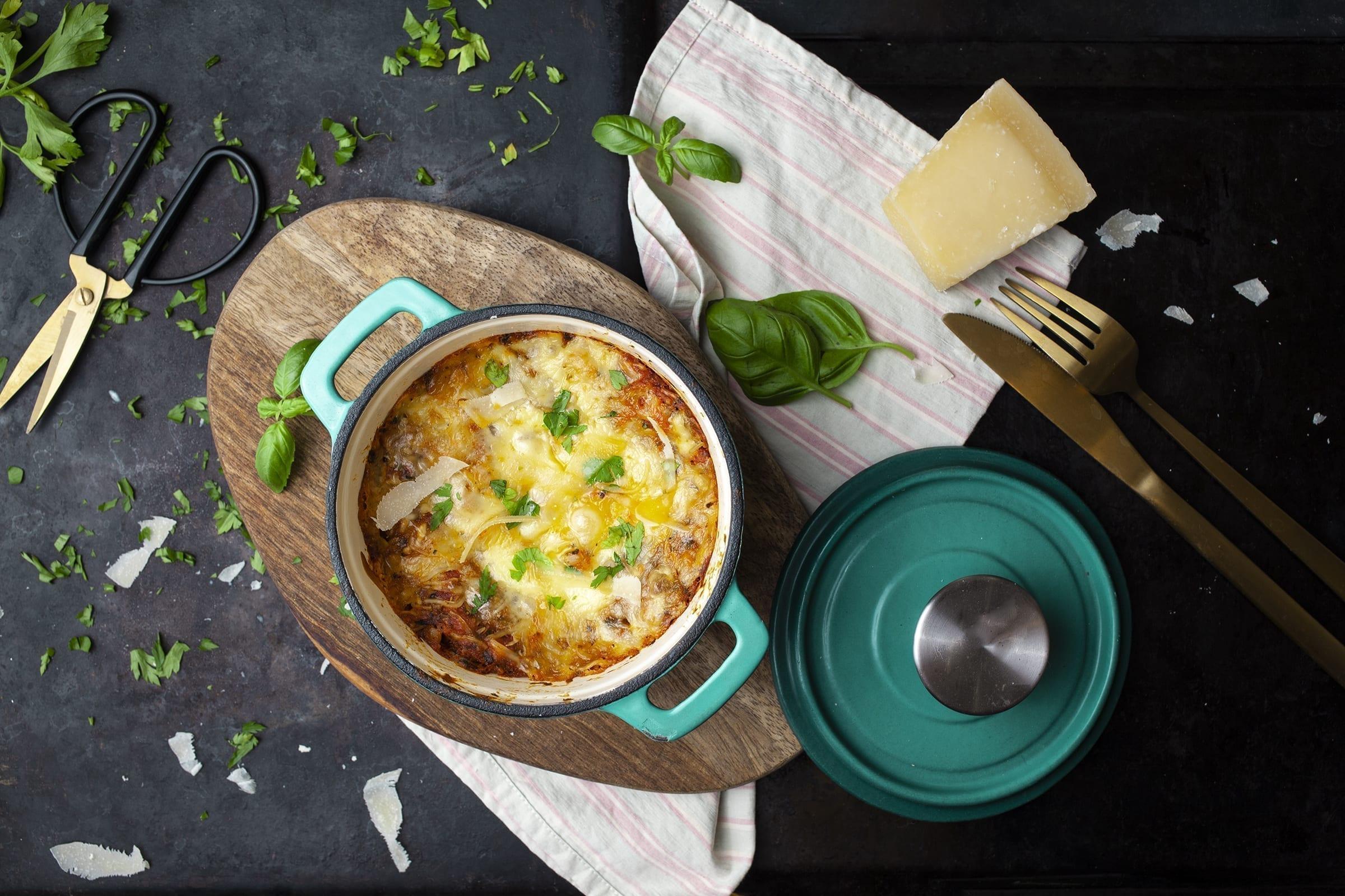 Lasagne bowl med ricotta, uden lasagneplader