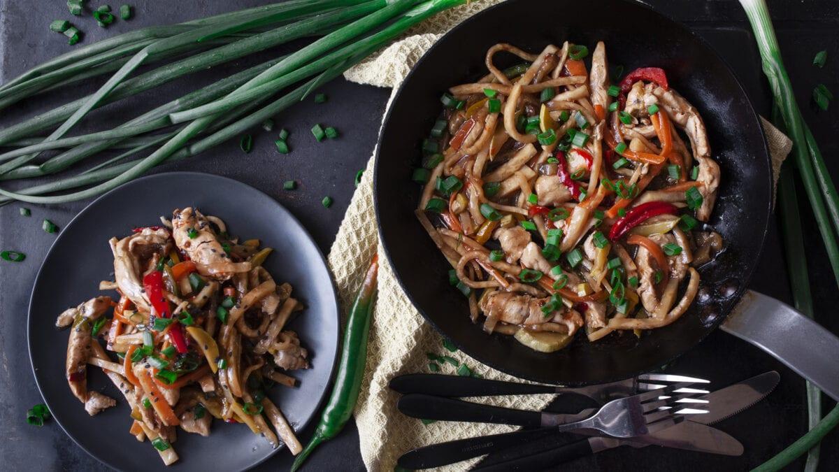Hurtig low carb wok med kylling