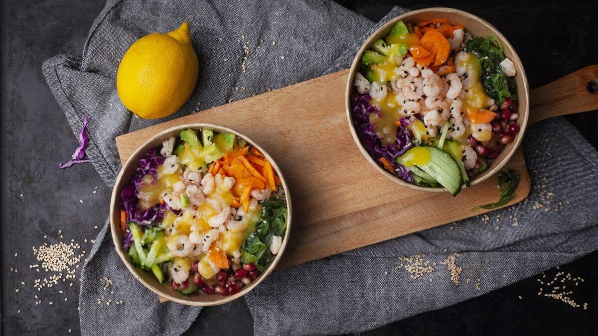 Rejesalat bowl med tvist af granatæble