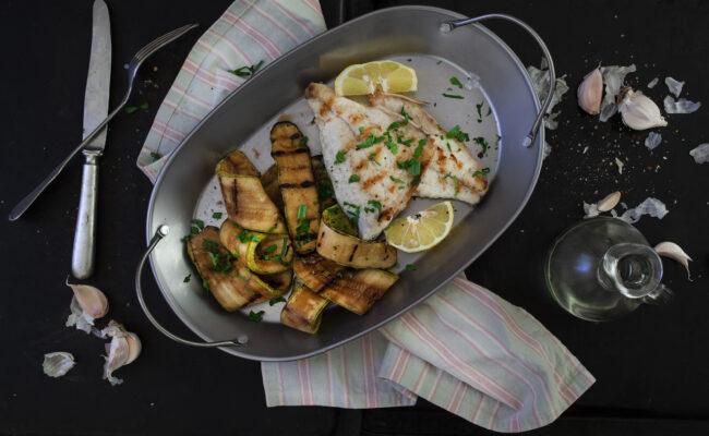 ketoliv - torsk med grillede grøntsager overview